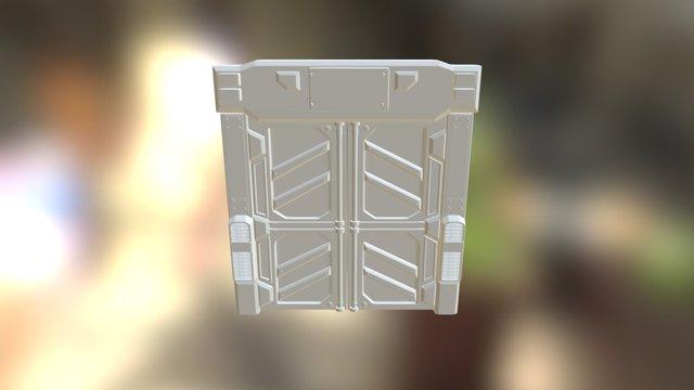 Door-sci Fi V2 3D Model