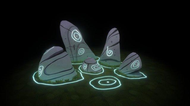 Magical Stones 3D Model
