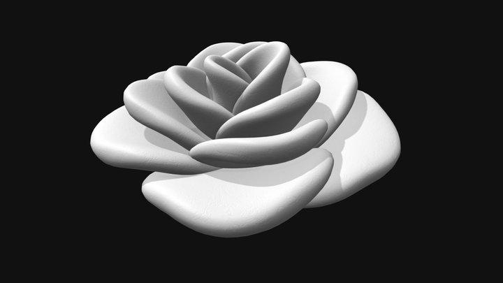 Decorative Rose Flower 3D Model