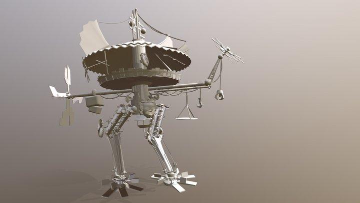 Rudimentary mecha 3D Model