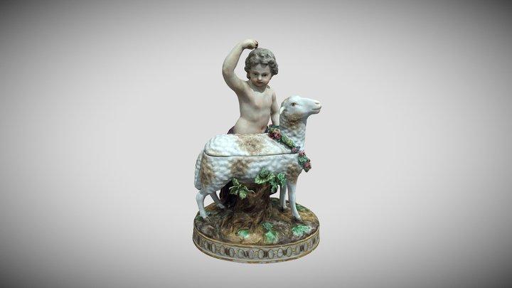 """Skulptūrėlė """"Berniukas su avimi"""" 3D Model"""