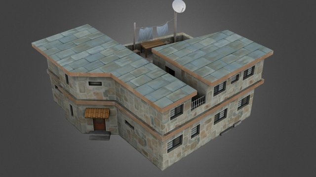 House 2floors 3D Model