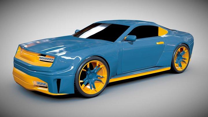 Stylish sportscar concept 3D Model
