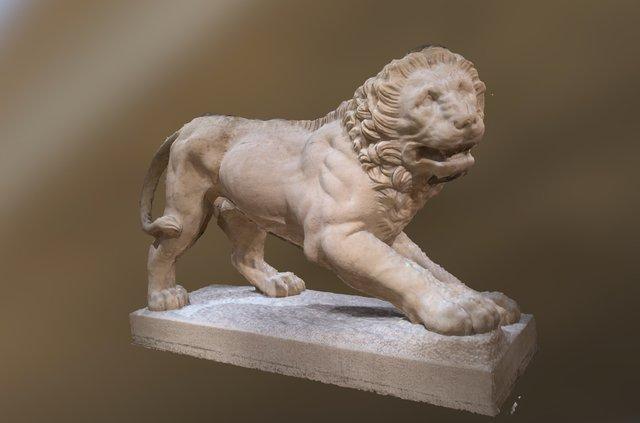 Altes Museum Lion 3D Model