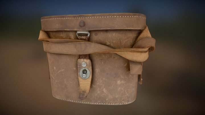 Binoculars case - leather 3D Model