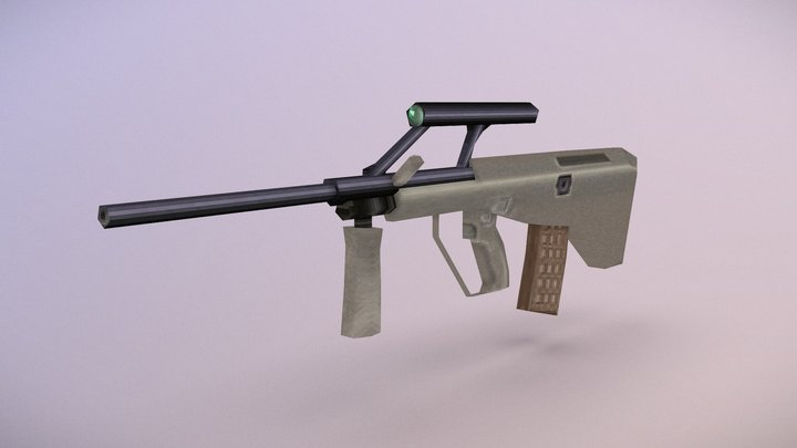 PS1-style Steyr AUG 3D Model