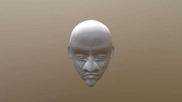 Live model head disgust 3D Model