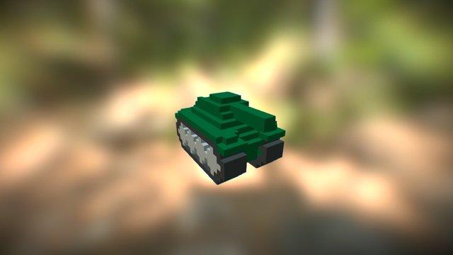Green Tank 3D Model