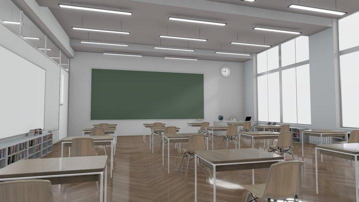 VR ClassRoom Feb 2021 3D Model