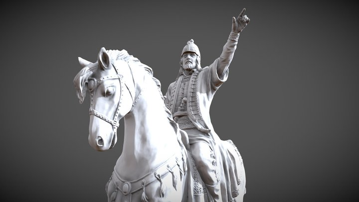 King on the March 3D Model
