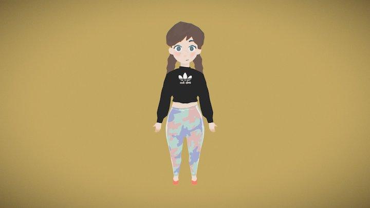 Adidas Girl 3D Model