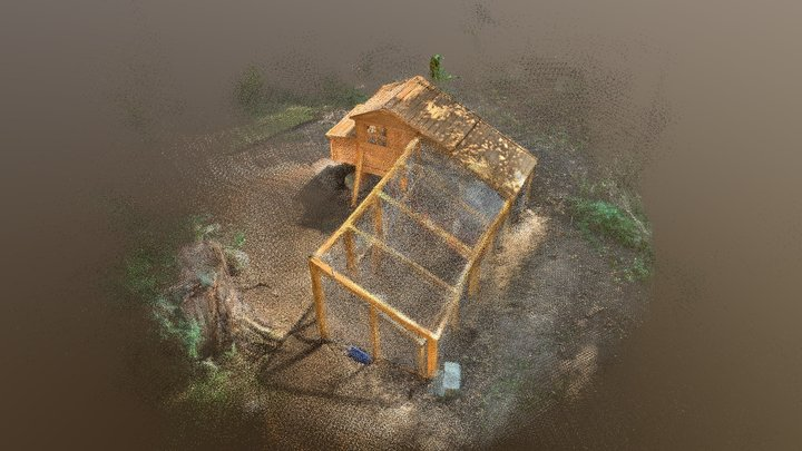 Chicken Coop  - made with Sitescape on the iPad 3D Model