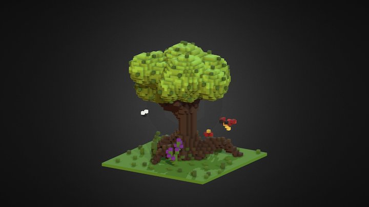 Tree and bugs 3D Model
