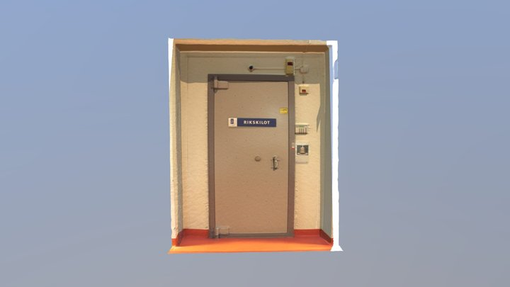 The Vault protecting the Swedish kilogram 3D Model