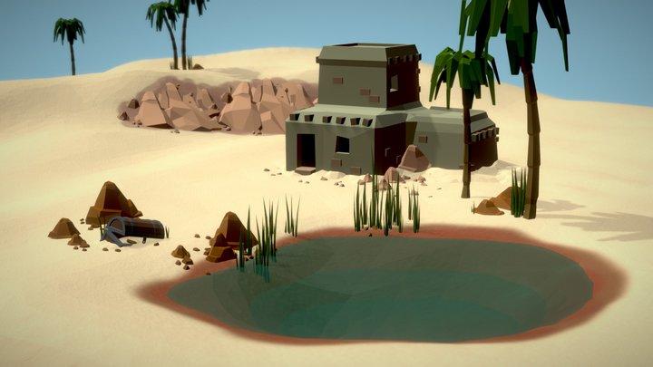 Desert House 3D Model
