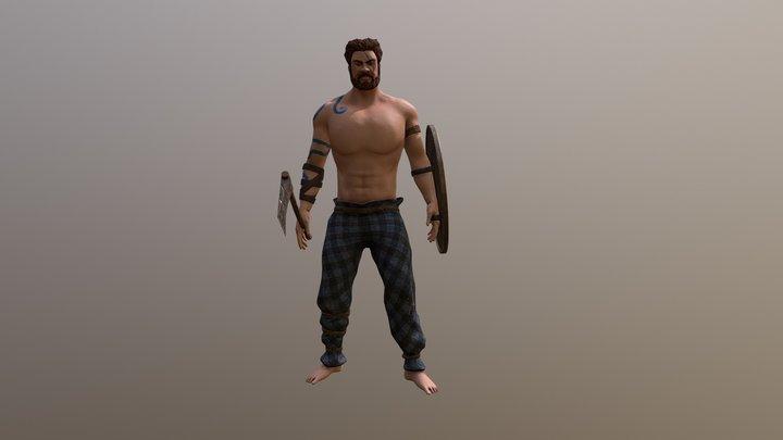 Celtic Warrior Idle (Axe & Shield) 3D Model