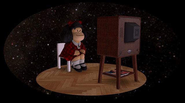 Mafalda TV 3D Model