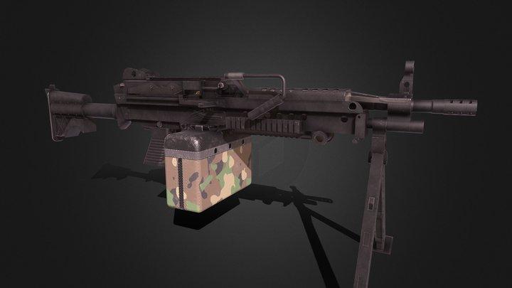 M249 3D Model