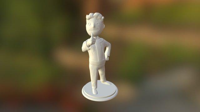 Vault Boy 3D Model