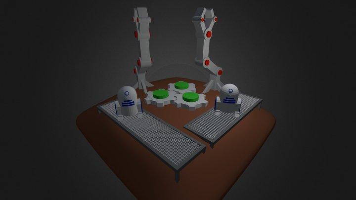 Robot Factory 3D Model