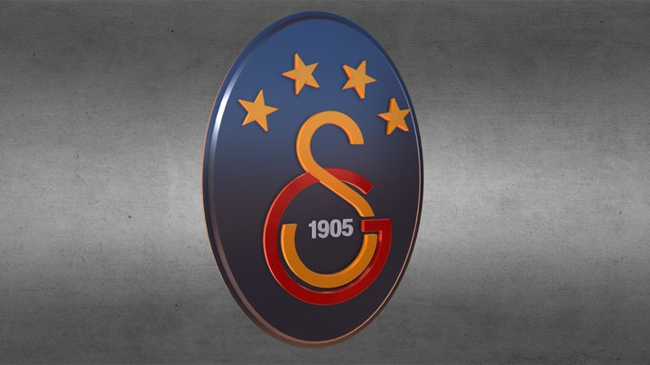 Galatasaray 3d Logo 3D Model