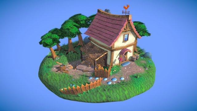Lumberjack's Abode 3D Model