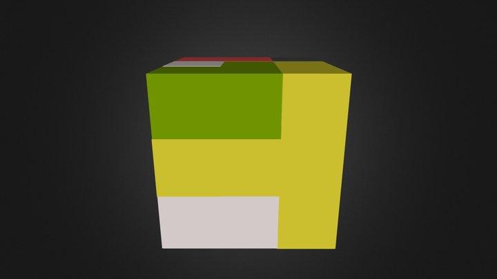 complete puzzle cube 3D Model