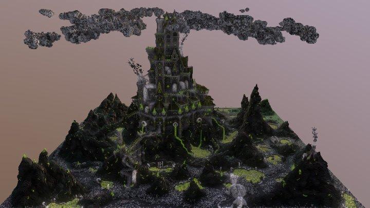 Green Castle Minecraft 3D Model