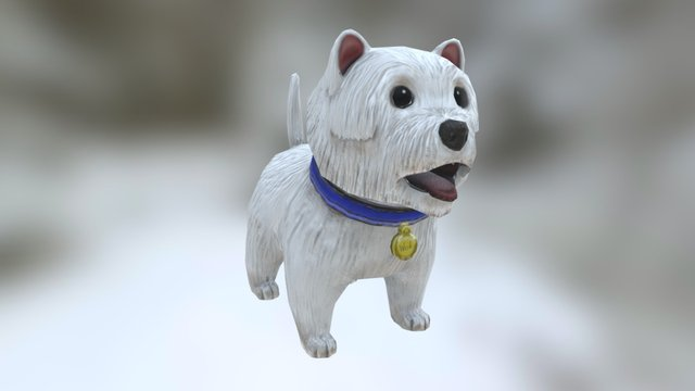 West Highland Terrier (Updated) 3D Model