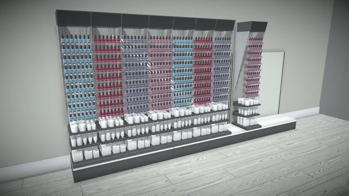 Nail Studio Rack - 02 3D Model