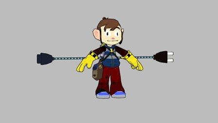 Alex kid -reimagined 3D Model
