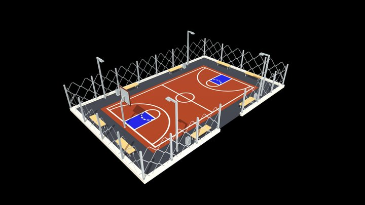 Lowpoly Basketball 3D Model