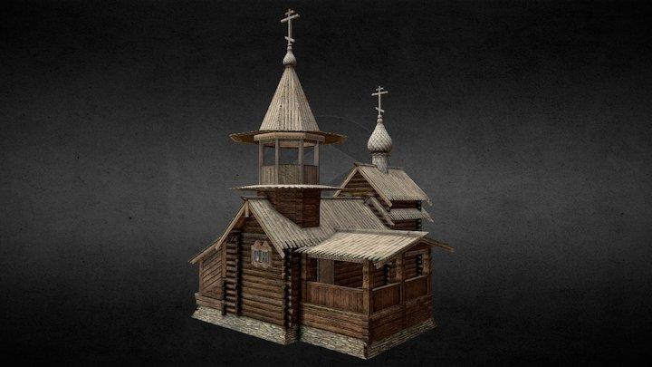 Karelian Orthodox Chapel 3D Model