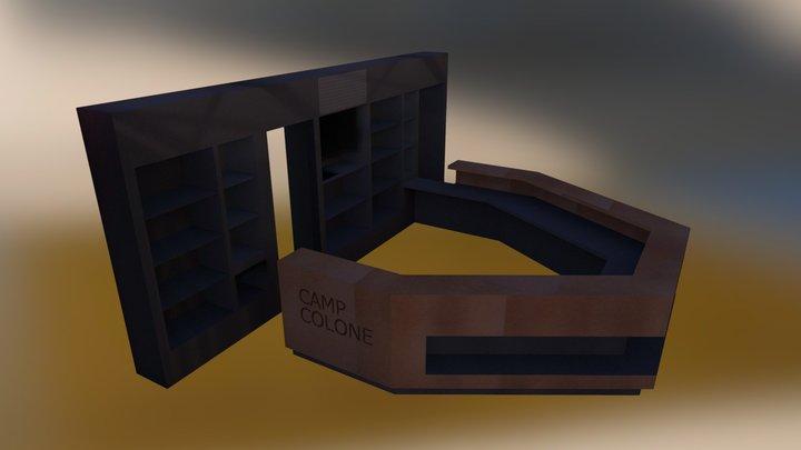 recepcija pult 3D Model