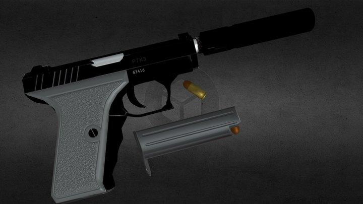 Heckler & Koch P7 K3 3D Model