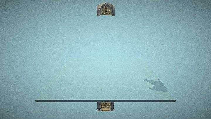 Etaiement d'une croisée d'ogives (animée) 3D Model