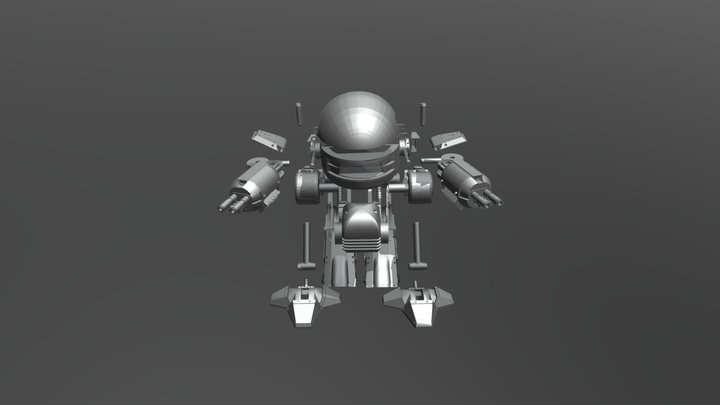 Ed-209 Action Figure for 3D printing 3D Model