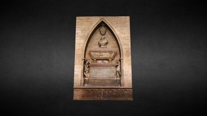 Sepulcro de Gajes. Claustro Catedral Pamplona 3D Model