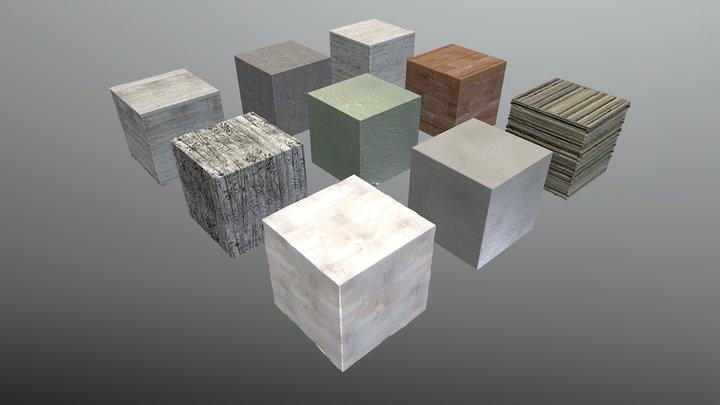 bimage - Texture Pack 02 - Concrete 3D Model
