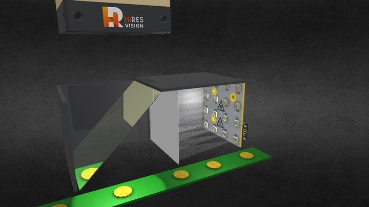 Coaxial Illumination system 3D Model