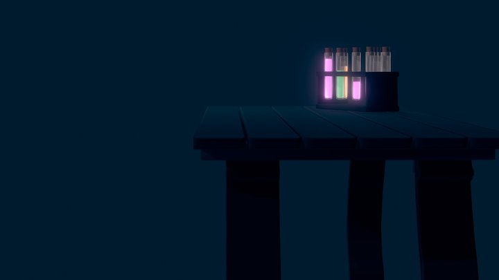 Potion Table 3D Model