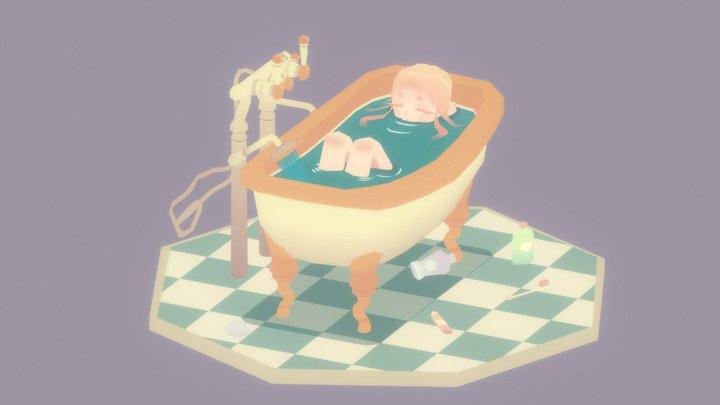 girl in the bathtub 3D Model