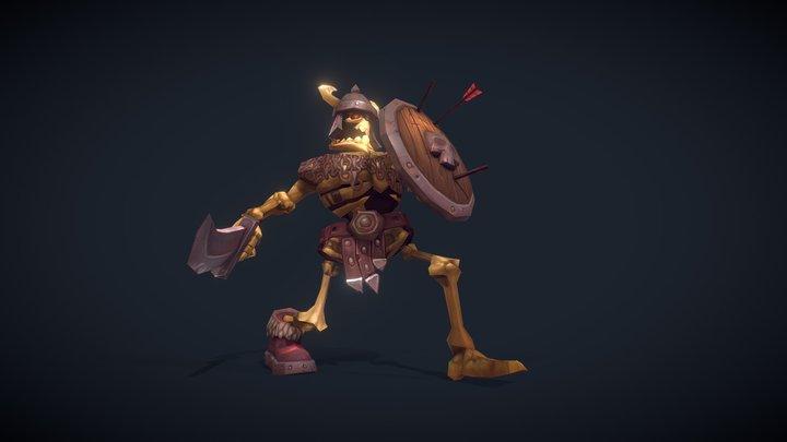 Skeleton Swordsman 3D Model