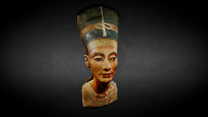 Nefertiti's bust 3D Model