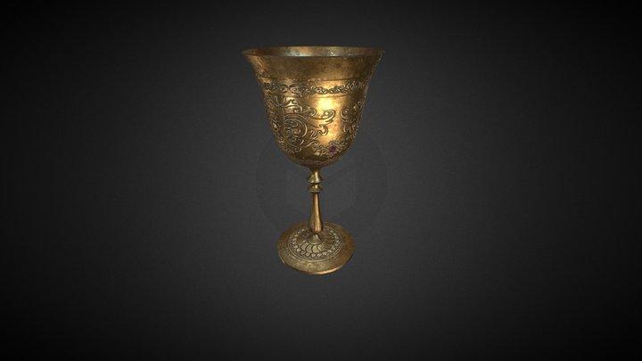 Old Goblet V2 pbr 3D Model