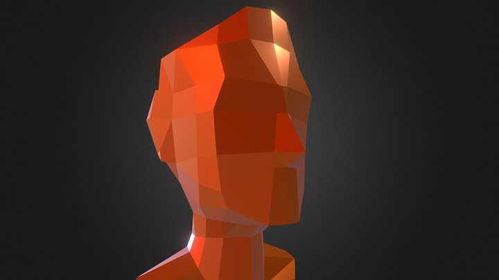 My very own low-poly head 3D Model