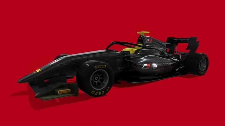 F3 Car - FIA 2019/2020 -  LOWPOLY 3D Model
