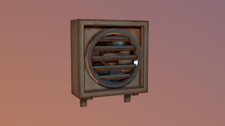 Rusty AC Unit 3D Model