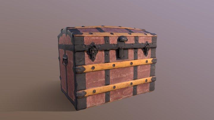 Antique trunk 3D Model