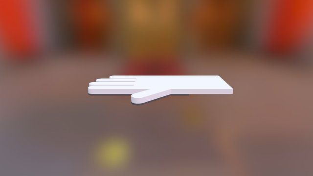 Dish Washing Glove 3D Model